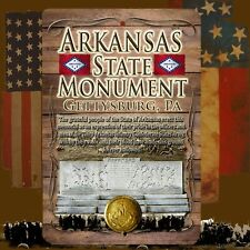 Arkansas State Monument 8 X 12 Aluminum Sign with top & bottom mounting holes
