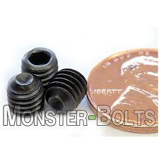 M6-1.00 x 6mm - Qty 10 - DIN 916 CUP Point Socket SET SCREWS Black Alloy 45H