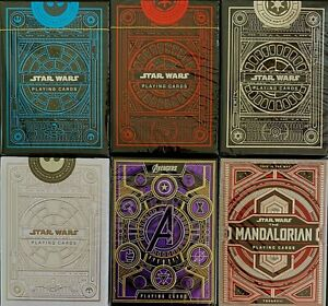 Star Wars Marvel Avengers Mandalorian Theory11 Playing Cards 6 Decks Poker Magic