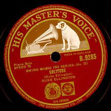 DUKE Ellington-pianoforte-Solitude/Dear Old Southland gommalacca 78rpm x3229