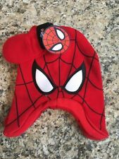 Marvel Spider-Man Toddler Boys' Earflap Hat & Mittens, Red