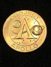Project Apollo Coin Medal Gold Tone Apollo 11 Moon Landing 1969 Astronauts NASA