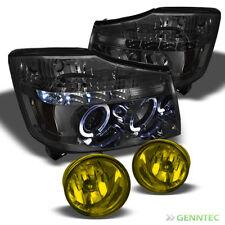 For 04-15 Titan 04-07 Armada Halo LED Smoke Projector Headlights+Fog Lights