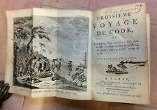 TROISIEME VOYAGE DE COOK 1782 EDITION ORIGINALE FRANCAISE  ILLUSTRE