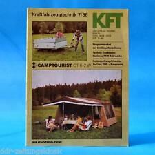 DDR KfT Kraftfahrzeugtechnik 7/1986 Camptourist CT 6-2 W und 7 Dacia 500 QEK B