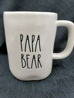 Rae Dunn Magenta PAPA BEAR Mug Coffee Tea Artisan Collection Large Letters