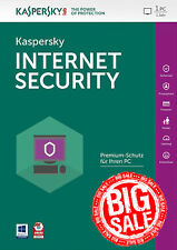 Kaspersky Internet Security 2018 1 PC / Benutzer / 1 Jahr / Antivirus / Download