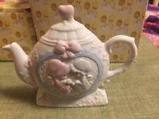 Precious Moments Tea Pot Napkin Holder- Girls Having Tea #301515