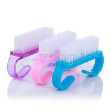3PCS Plastic Handle Clean Nail Art Dust Cleaning Brush Manicure Pedicure Tool HM