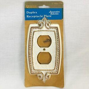 Vintage Amerock Bonaventure Collection Duplex Outlet Cover Plate C-8882-RW NOS