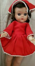 """Vintage Red Two piece dress outfit. fits ginny alex ginger muffie No 8""""  doll"""