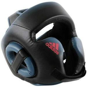 Adidas Womens Boxing Speed Head Gear Guard Black & Shock Red