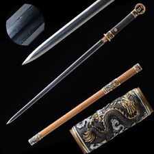 Pattern Steel ring-pommel sword BRASS+Gold Plated+silver-plated Fittings #1692