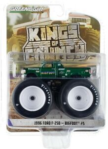 """Chase 1996 FORD F-250 MONSTER TRUCK """"BIGFOOT #5"""" 1/64 GREENLIGHT 49040 E"""