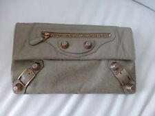 100% Authentic Balenciaga Envelope Clutch With Giant Gold HW