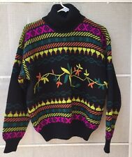 Obermeyer Ladies Ski Sweater Size Medium Turtleneck bright colors