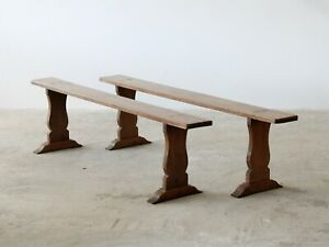 Cherrywood Benches, French Circa 1890