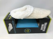 NEW! Sharper Image Women's Memory Foam Slippers White Size:Small(7-8) 164E az