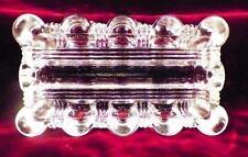 Elegant Glass Ashtray Rectangle Ribs Bars Clear Vintage PATTERN MAKER HELP