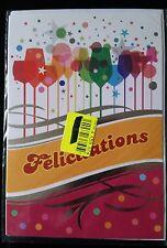 """F37) Carte """"Féliciations"""" + enveloppe - Neuf"""