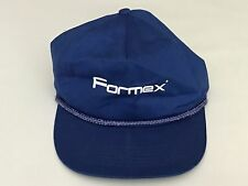 Vintage Formex Blue Trucker Hat Snapback One Size Fits All Cap