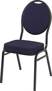 Lobu blau Saalstuhl MIT HUSSE Stapelstuhl Stapelstühle Bankettstuhl Pokerstuhl