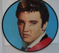 RARE 45T PICTURE DISC ELVIS PRESLEY- BABY I DON'T CARE- UK-RCA- P332 - 1983