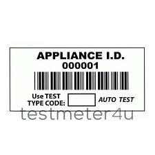 Barcoded Appliance ID Labels