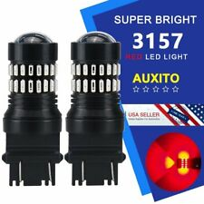 AUXITO 2x 3057 3157 4057 Super Red LED Turn Signal Brake Tail Marker Light Bulbs
