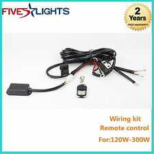 1XRemote Control Wiring Harness Kit Switch Relay Led Light Bar FOR 120W-300W 2M
