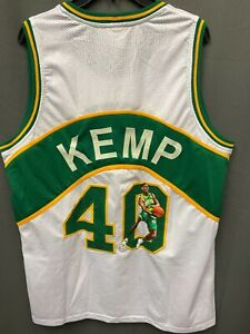Shawn Kemp #40 Signed Seattle Sonics Jersey w/ Custom Art AUTO TRISTAR COA Sz XL