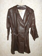 Mid Western Sport Togs Deerskin Leather Dark Brown WoMmens Car Coat USA 38/14