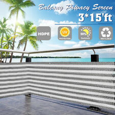 Balcony Privacy Screen Fence Cover Mesh Windscreen Sun Shade UV-Resistant