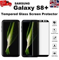 Bubble Free Full Cover Tempered Glass Screen Saver 9H For Galaxy S8 Plus Black