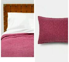 Opalhouse Magenta pink Garment Washed Quilt/Shams ~ twin
