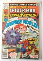Marvel Team Up 66 Spider-Man 2nd Appearance of Captain Britain Marvel FN