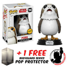 FUNKO POP STAR WARS THE LAST JEDI PORG LIMITED CHASE PIECE + FREE POP PROTECTOR