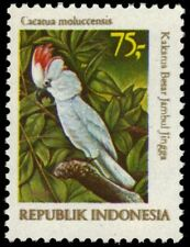 "INDONESIA 1163v - Pink-Crested Cockatoo ""Gold Double Printed Error"" (pb17458)"