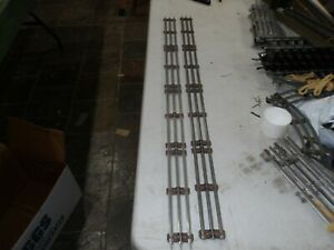 2 pcs. Lionel 35 Inch Straight Track 027 3 rail tubular, Used, (11,041) Shelf