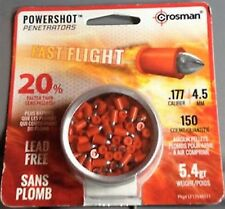 CROSMAN POWERSHOT PENETRATORS FAST FLIGHT 4.5 mm .177 150 pcs. Airgun PELLETS