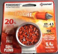 CROSMAN POWERSHOT PENETRATORS FAST FLIGHT 4.5 mm .177 150 pcs. Airgun PELLETS