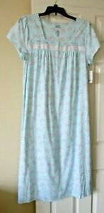 Croft and Barrow ballerina short sleeved nightgown size Large butterfly print