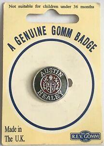 Vintage R.E.V. GOMM - AUSTIN HEALEY - 2cm ENAMELLED METAL LAPEL PIN BADGE