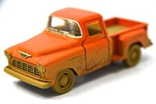 "New 5"" Kinsmart 1955 Chevy Stepside Pickup Truck Muddy Diecast Model 1:32 Orange"