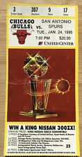 1995 Chicago Bulls Ticket Stub Jan. 24 Scottie Pippen Chair Throwing Last Dance