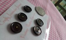5 Matching Vintage Shimmering Oil Brown 2 hole Shirt Buttons 16mm Sewing Crafts