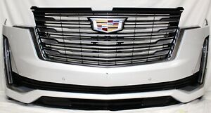 2021 CADILLAC ESCALADE FRONT BUMPER ASSEMBLY 6 SENSORS WITH CAMERA WITH FOG LIGH