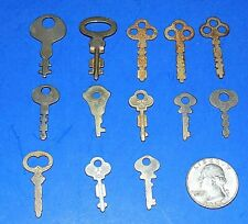 Lot of 13 Small Vintage or Antique Flat Square-Cut Keys