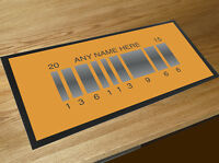 Personalised Back to the Future 2 Bar runner counter mat Pub & Cocktails Bar