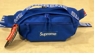 Brand New Supreme Blue Waist Bag Shoulder Bag Fanny Pack  Unisex